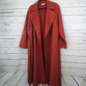 JustFab long trench coat size 1x